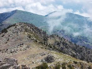 Photo: Col de La Cirere ,  Puig St Pierre ,  et Puig de L'Estelle