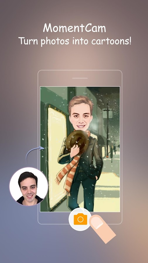 MomentCam Cartoons & Stickers- screenshot
