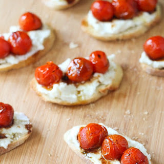 Roasted Tomato and Ricotta Cheese Crostini.