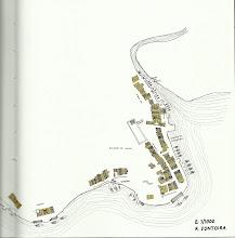 Photo: Plano intuitivo do século XVI da Moureira de Abaixo, As Corbaceiras e a Ribeira dos Peiraos