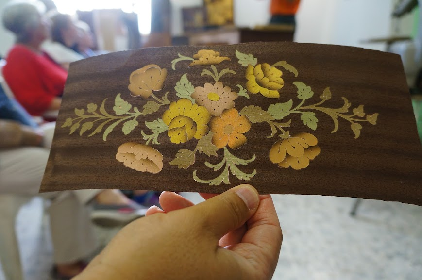 An example of Italian woodwork