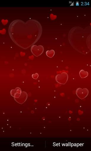 Delicate Hearts Free LWP скачать на планшет Андроид