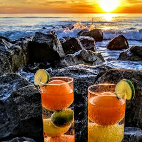 { Tropical Drinks ~ On The Rocks }  by Jeffrey Lee - Food & Drink Fruits & Vegetables ( { tropical drinks ~ on the rocks } )