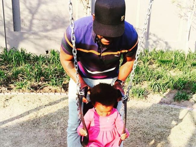 "March 2018. ProKid shared a picture of himself with his daughter on social media and captioned it: ""Sunday swings with my bestie♥ #LOVE"""