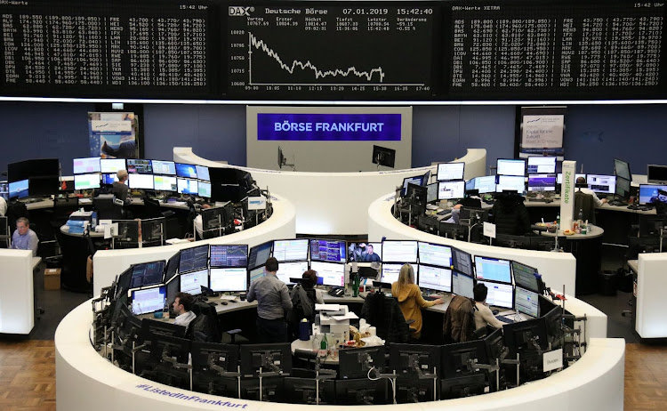 The German share price index DAX graph is pictured at the stock exchange in Frankfurt, Germany, on January 7 2019. Picture: REUTERS