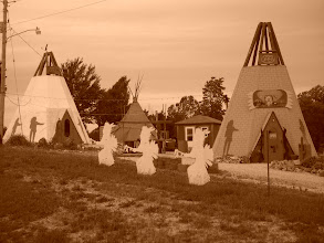 Photo: Along the road today -- Not as nice as the tepees in Rialto and Holbrook