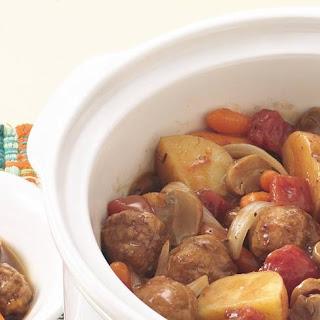 Slow-Cooker Meatball Stew.