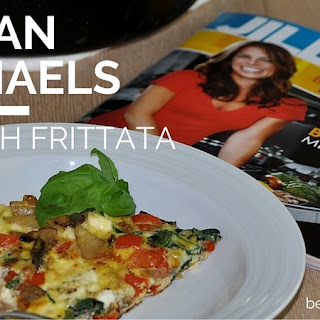 Jillian Michaels Spinach Frittata with Potatoes, Peppers, and Feta