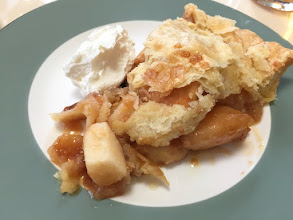Photo: Apple pie with fresh cheese