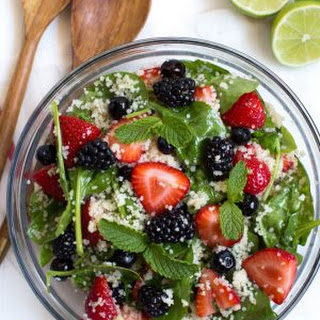 Triple Berry Couscous Salad with Honey Lime Mint Dressing Recipe