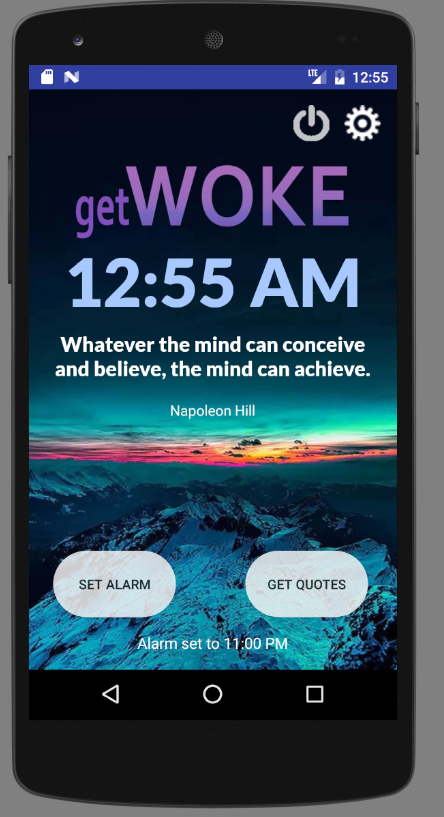 getWoke: Quote Alarm Clock - 屏幕截图