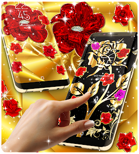 Gold rose live wallpaper Apk Download For Android 3