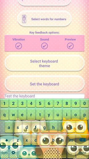 可愛い フクロウ 絵文字 キーボー ドアプリ
