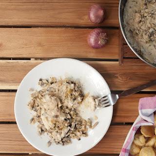 Chicken with Mushroom White Wine Cream Sauce Recipe