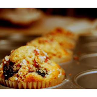 Blackberry and White Chocolate Muffins