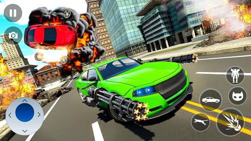 Cat Robot Car Transformation War Robot Games  screenshots 3