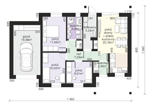Dom przy Bukowej 16 - Rzut parteru