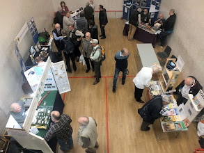 Photo: 002 One of the squash courts held a number of trade and society stands. In no particular order:: Model Railway Developments; Leighton Buzzard NG Railway; Wrightscale; British Overseas Historical Railway Trust;  Amberly Museum and Heritage Centre ,