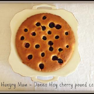 Donna Hay cherry and cardamom pound cake
