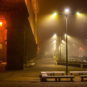 by Estislav Ploshtakov - City,  Street & Park  Night