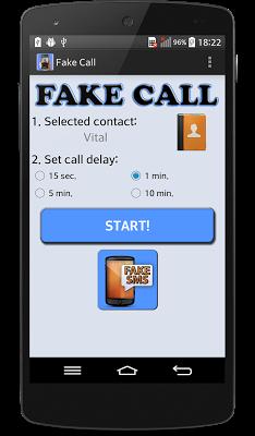 Fake SMS & call - screenshot