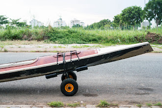 Photo: my newly built kayak moving cart... light and convenient