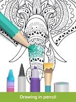 Coloring pages:Animals Mandala - screenshot thumbnail 18