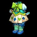 緑のアリスの服B