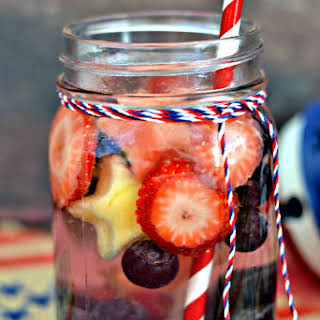 Red, White & Blue Vitamin Fruit Infused Vitamin Water.