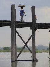 Photo: Year 2 Day 55 - Woman on U Bein's Bridge
