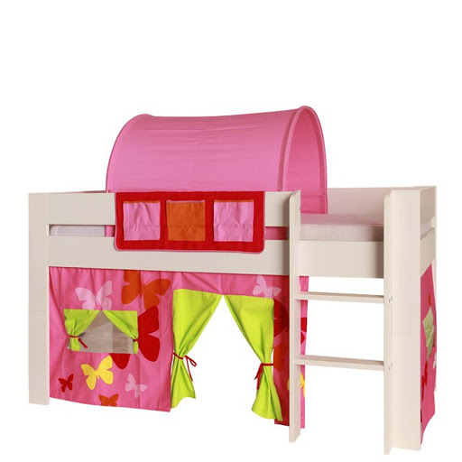 Kids World Mid Sleeper Bed Frame Pink