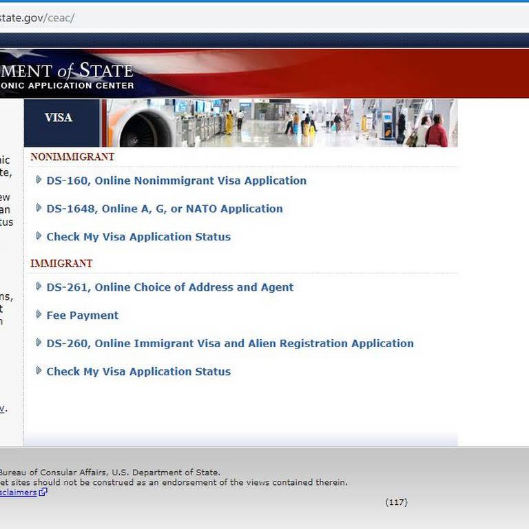 Check My Visa Status Ds 260