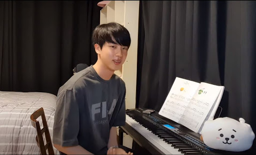 BTS Jin Playing Piano in front of fans