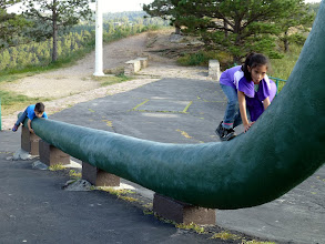 Photo: Yes, we know they didn't drag their tails in real life. But then they wouldn't have made such a fun playground.