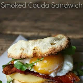 Bacon, Egg, and Smoked Gouda Sandwich.