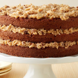 German Chocolate Cake with Coconut Pecan Frosting.