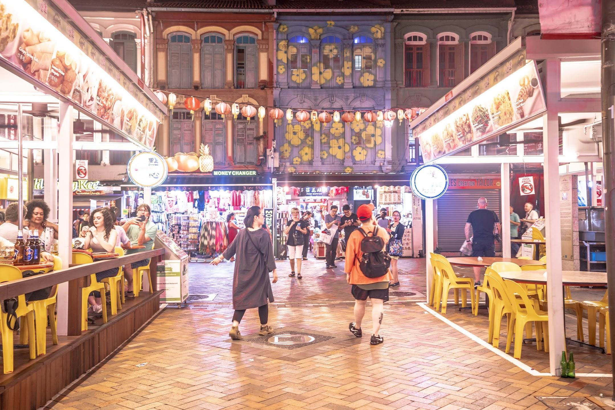 Singapore Chinatown evening