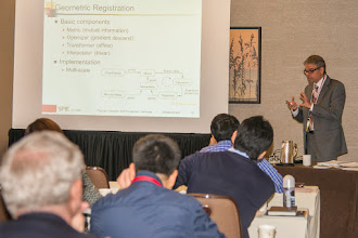 Photo: Thomas Deserno teaching Image Processing; SPIE Medical Imaging 2015