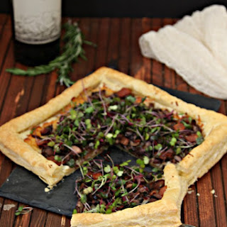 Mushroom and Bacon Tart Recipe