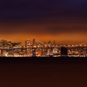 San Francisco-Oakland Bay Bridge by Alex Sam - Buildings & Architecture Bridges & Suspended Structures ( oakland bay bridge, san francisco )