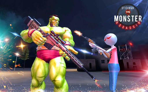 American Monster vs Stickman Sniper Modern Combat game (apk) free download for Android/PC/Windows screenshot