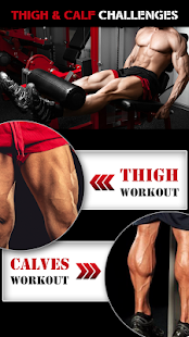 leg workout for men  thigh muscle fitness 30 day  apps