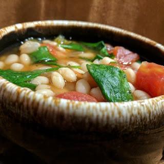 Smokey Slow Cooker Navy Bean Soup.