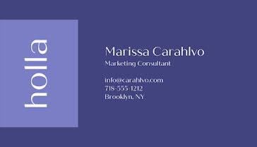 Carahlvo Marketing - Business Card Template