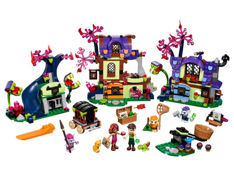 Contenido de Lego® 41185 Rescate Mágico del Poblado de los Duendes