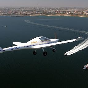 Diamond DA-20 Katana by Rafael Raf - Transportation Airplanes ( air to air, airplane, diamond, romania, nikon, constanta )