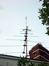 Photo: Ubiquiti Nanostation Loco M5 mounted to an extension of an existing UHF TV antenna