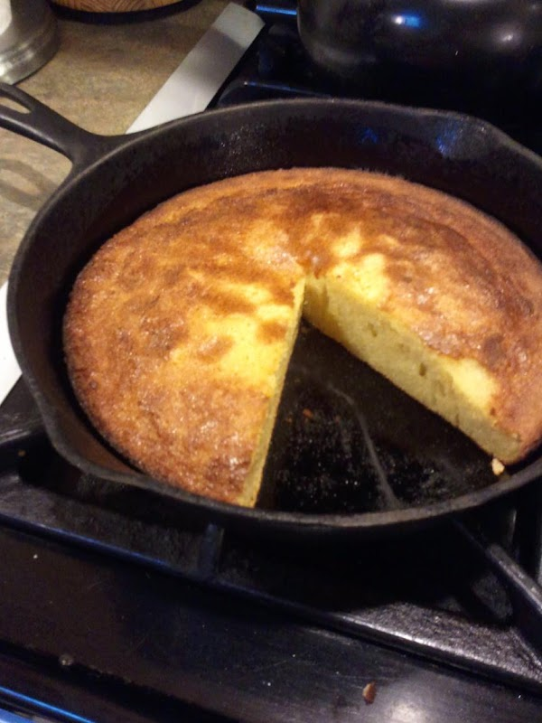 Coconut Flour Corn Bread, made in a cast iron skillet, and so moist and tasty. You will love it, I am sure.