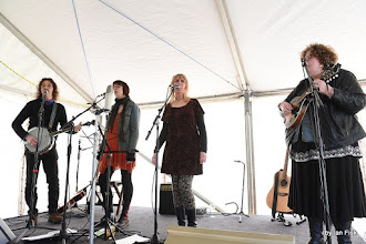 Photo: Saltwater Taffy in the Open Mic tent