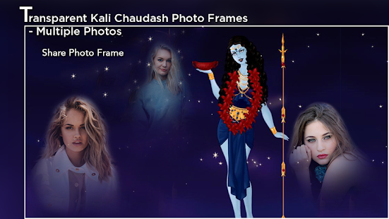Transparent Kali Chaudash Photo Frame - Multiple - náhled